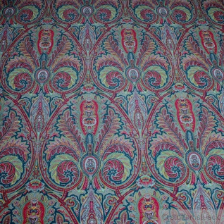Stoff Baumwolle Popeline Ornament bunt Baumwollstoff vielfarbig