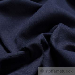 Stoff Baumwolle Interlock Jersey dunkelblau T-Shirt Tricot weich dehnbar - Vorschau 2