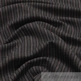 Stoff Wolle Streifen braun weich links angeraut