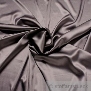 Stoff Seide Elastan Satin anthrazit weich fließend Stretch elastisch edel