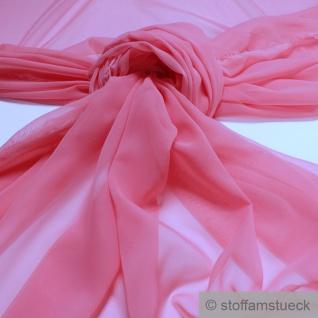 Stoff Polyester Chiffon rosa transparent leicht weich fallend