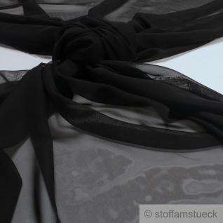 Stoff Polyester Chiffon schwarz transparent leicht weich fallend