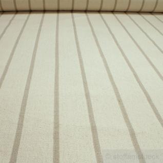 Stoff Baumwolle Leinwand natur grob Streifen beige ungefärbt Baumwollstoff