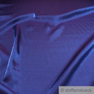 Stoff Viskose / Polyester Satin blau blickdicht glänzend glatt weich