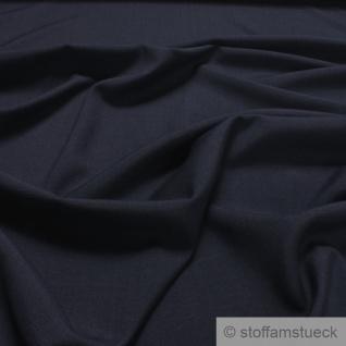 Stoff Polyester Wolle dunkelblau Flammgarn weich Leinenoptik