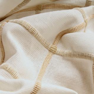 Stoff Baumwolle ecru Karo natur Baumwollstoff natürlich schlicht stilvoll