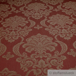 Stoff Polyester Baumwolle Jacquard terracotta Moire Ornament Polsterstoff