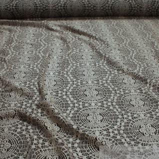 Stoff Polyester Viskose Elastan Single Jersey Spitze beige Kreis fließend weich