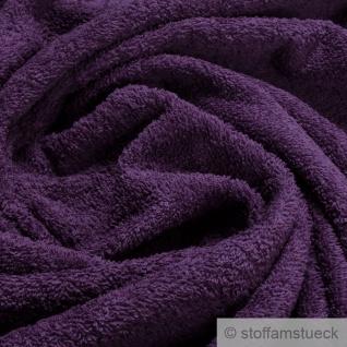 Stoff Baumwolle Frottee lila Frotté zweiseitig Baumwollstoff weich