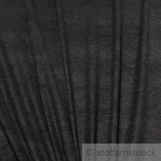 Stoff Polyester Viskose anthrazit meliert angeraut weich