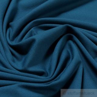 0, 5 Meter Stoff Baumwolle Elastan Single Jersey petrol T-Shirt weich dehnbar - Vorschau 1