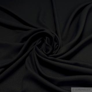 Stoff Polyester Viskose Crêpe de Chine schwarz weich