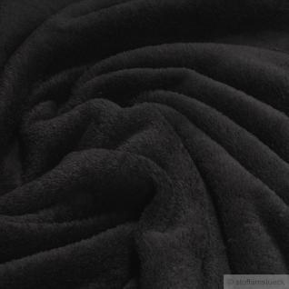 Stoff Polyester Wellness Fleece schwarz Kuschelfleece