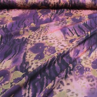 Stoff Polyester Chiffon Explosion apricot lila bunt transparent leicht