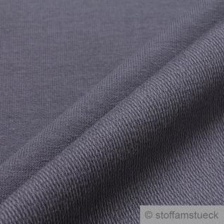 0, 5 Meter Stoff Baumwolle Elastan Single Jersey French Terry dunkelgrau - Vorschau 2