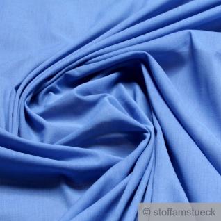 Stoff Baumwolle Batist blau leicht luftig transparent mittelblau