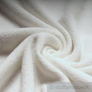 Stoff Baumwolle Polyester Fleece wollweiß Baumwollfleece Plüsch kuschelig