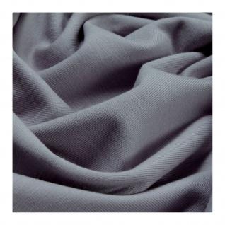 0, 5 Meter Stoff Baumwolle Elastan Single Jersey hellgrau T-Shirt weich dehnbar - Vorschau 4