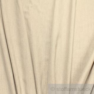 Stoff Polyester Wolle sand meliert Mischgewebe Wollstoff
