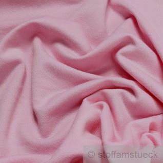 Stoff Baumwolle Single Jersey rosa angeraut Sweatshirt weich dehnbar - Vorschau 2