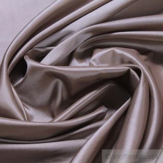 Stoff Polyester Kleidertaft taupe Taft dezenter Glanz