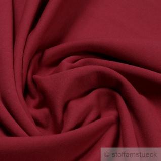 Stoff Baumwolle Single Jersey kirschrot angeraut Sweatshirt weich dehnbar rot