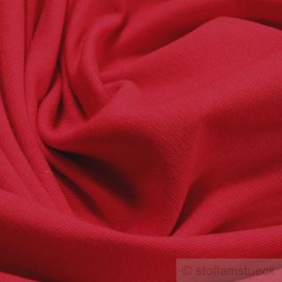 0, 5 Meter Stoff Baumwolle Elastan Single Jersey rot T-Shirt Tricot weich dehnbar - Vorschau 2