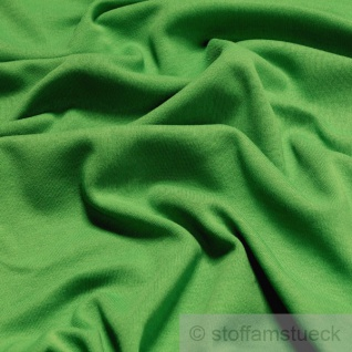 0, 5 Meter Stoff Baumwolle Interlock Jersey grün T-Shirt weich dehnbar grasgrün - Vorschau 2