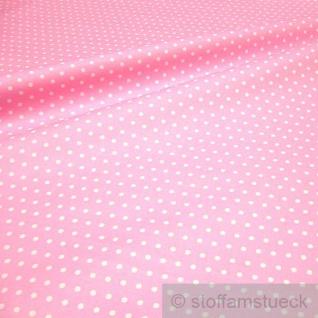 Stoff Baumwolle Acryl Punkte klein rosa weiß Regenjacke Wachstuch Tischdecke