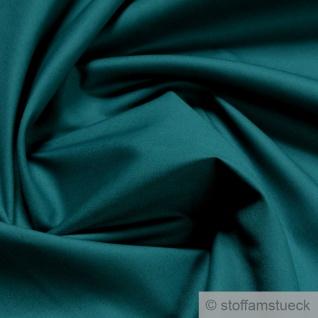 Stoff Baumwolle Popeline petrol Baumwollstoff blau