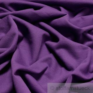 0, 5 Meter Stoff Baumwolle Single Jersey lila angeraut Sweatshirt weich dehnbar - Vorschau 2