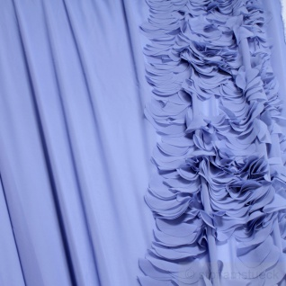 Stoff Polyester Chiffon himmelblau Volant leicht transparent