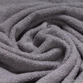 Stoff Baumwolle Frottee grau Frotté zweiseitig Baumwollstoff hellgrau weich