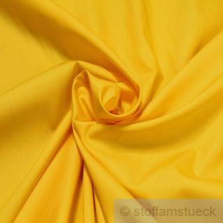 Stoff Baumwolle Popeline gelb Baumwollstoff sonnengelb