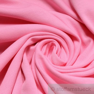 0, 5 Meter Stoff Baumwolle Interlock Jersey rosa T-Shirt Tricot weich dehnbar