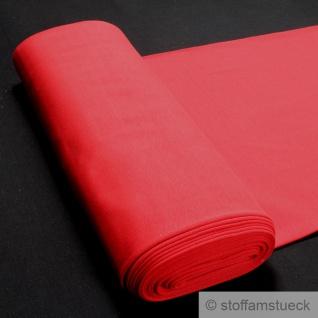 0, 5 Meter Baumwolle Elastan Bündchen rot 45 cm breit