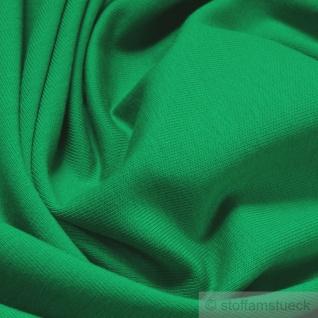 0, 5 Meter Stoff Baumwolle Elastan Single Jersey grün T-Shirt weich grasgrün - Vorschau 2