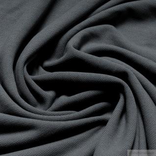 Stoff Baumwolle Piqué Jersey mausgrau Polohemd T-Shirt breit dehnbar weich grau