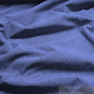 Stoff Polyester Softshell jeansblau meliert atmungsaktiv wasserundurchlässig