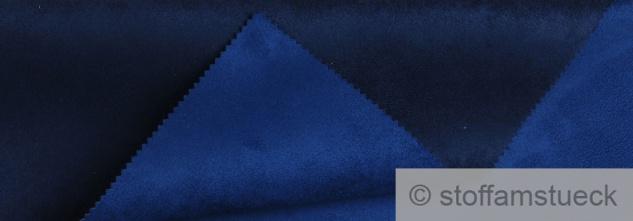 Stoff Polyester Kunstleder Wildleder double face dunkelblau kobaltblau