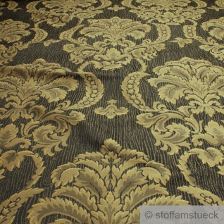 Stoff Polyester Baumwolle Jacquard anthrazit Moire Ornament Polsterstoff