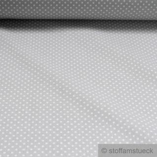Stoff Baumwolle Punkte ganz klein hellgrau weiß Tupfen Baumwollstoff