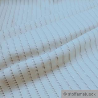 10 Meter Stoff Viskose Futter Taft ecru Streifen Futterstoff Futtertaft