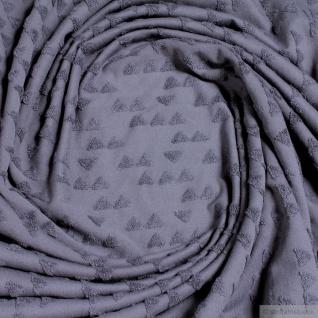 Stoff Baumwolle Polyester Jacquard Jersey dunkelgrau Dreieck Frottee Gemetrie