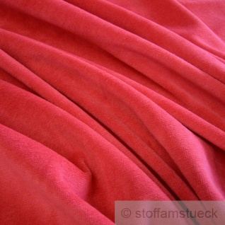 Stoff Baumwolle Polyester Nicki rot Nicky weich