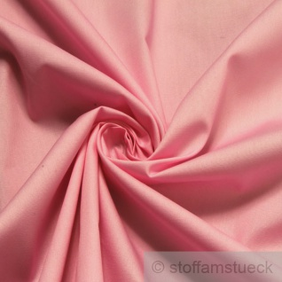 Stoff Baumwolle Popeline rosa Baumwollstoff