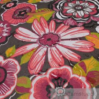 Stoff Baumwolle Acryl braun Blume Retro Regenjacke beschichtet