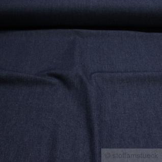 Stoff Baumwolle Köper Jeans dunkelblau 9 oz vorgewaschen Jeansstoff Denim weich