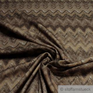 Stoff Wolle Polyacryl Köper Zickzack braun angeraut Decke Vorhang
