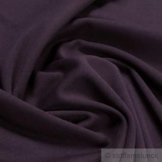 Stoff Baumwolle Interlock Jersey weinrot T-Shirt Tricot weich dehnbar bordeaux - Vorschau 2